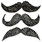 Hipster mustache set — Stock Vector