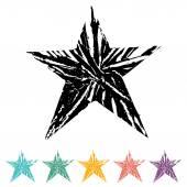 Conjunto de ícones de estrela — Vetorial Stock
