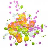 Watercolor paint splash — Stock Vector