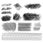 Set of ink lines — Stock Vector