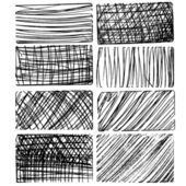 Rough drawing textures — Stock Vector