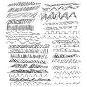 Hand-drawn line border set — Stock Vector