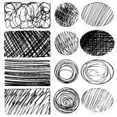 Set of ink lines — Stock Vector