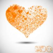 Heart spray in paint — Vector de stock