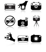 Camera icons set — Stock Vector