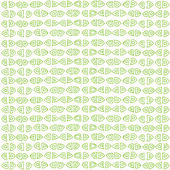 Green seamless ornament pattern — Stock Vector
