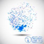 Blue watercolor splash — Stock Vector