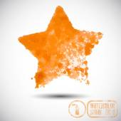 Orange Star spray graffiti — Stock Vector