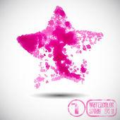 Pink Star spray graffiti — Stock Vector