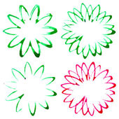 Set of abstract flowers — Stock Vector