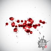 Red splats — Stock Vector