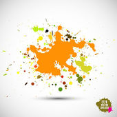 Ink and paint spatter — Stock Vector