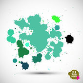 Green paint splats — Stock Vector