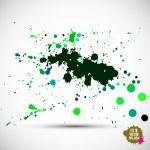 Watercolor green blots — Stock Vector #62800081