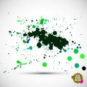 Watercolor green blots — Stock Vector