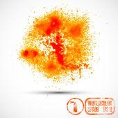 Watercolor orange spray — Stok Vektör