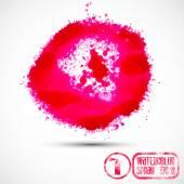 Watercolor pink spray — Stock Vector