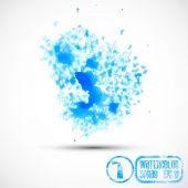 Blue spray splats — Stock Vector