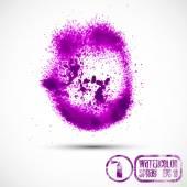Violet paint splash — Stock Vector