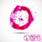 Pink spray splatters — Stok Vektör