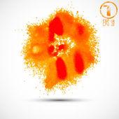 Orange watercolor splatters — Stok Vektör