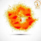 Orange blots background — Stok Vektör