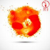Orange spray blots — Stok Vektör