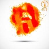 Watercolor spray blots — Stok Vektör