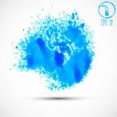 Blue watercolor splashes — Stock Vector