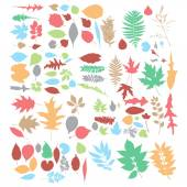 Leaf silhouettes set — Stock Vector