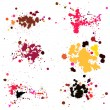 Blot, Splashes, Stains Set — Stock Vector #63867303