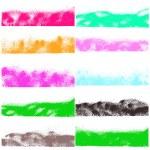 Watercolor spray banners set — Stock Vector #63868175