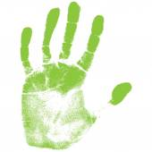 Green hand print — Stock Vector