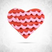 Valentine  heart red cookie — Stock Vector