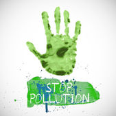 Stop pollution sign — Stock Vector