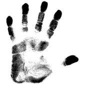 Estampado negro de mano — Vettoriale Stock