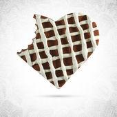 バレンタイン チョコレート クッキー ハート — ストックベクタ