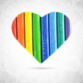 Multicolor valentine heart — Stock Vector