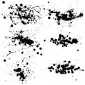 Black ink splash collection — Stock Vector