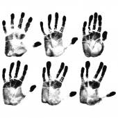 Human hand prints — Stock Vector