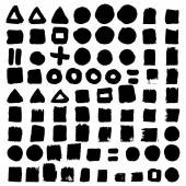 Abstract shapes set — Stock Vector