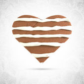 Valentine heart chocolate cookie — Stock Vector