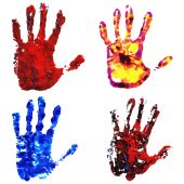 Hand Print set — Stock Vector