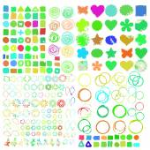 Set of grunge  shapes — Stock Vector
