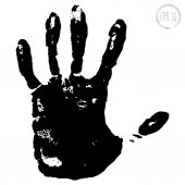 Black print of  hand — Stock Vector