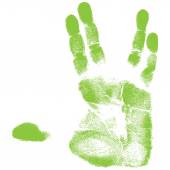 Green hand print — Stock Vector