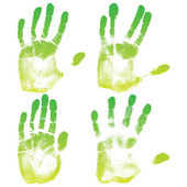 Green eco hands set — Stok Vektör