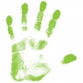 Green Hand print. — Stock Vector