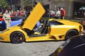 ежегодный йорквилль экзотическое автомобильное шоу — Стоковое фото