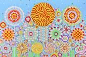 Diseño de flores artística abstracta — Foto de Stock